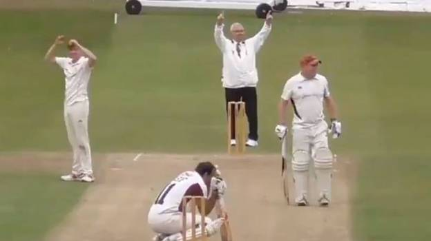 Batsman Can't Hide His Awkwardness After Hitting A Six Straight Into A Car Window