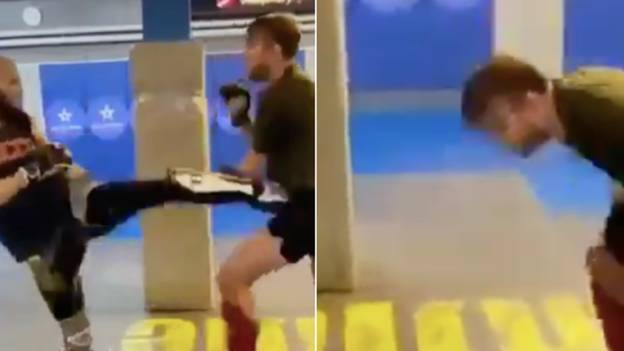 Controversial Footage Emerges Of Khamzat Chimaev Dropping UFC Heavyweight Alexander Gustafsson In Sparring