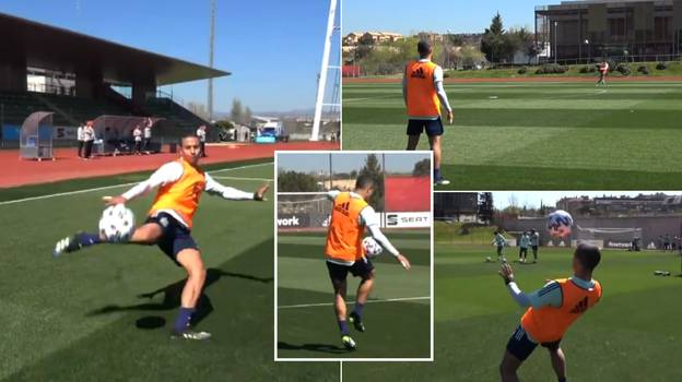 Thiago And Rodri Casually Ping Long-Range Passes To Each Other In Spectacular Training Session