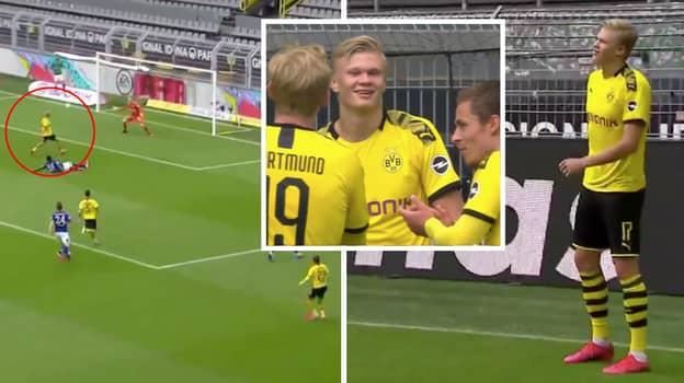Erling Haaland Scores The First Goal Of The Bundesliga Return