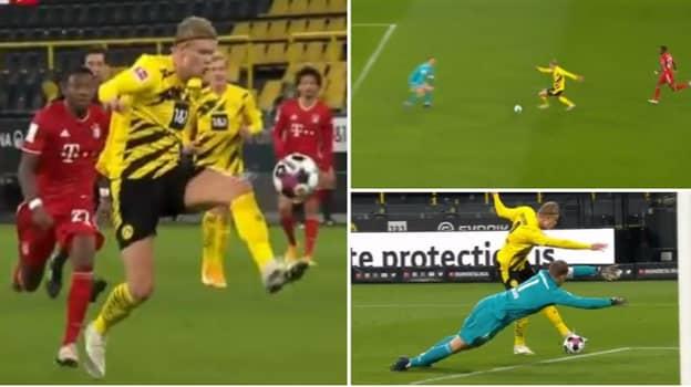 Erling Haaland's Brilliant Goal For Borussia Dortmund Against Bayern Munich Gets Slow-Mo Treatment