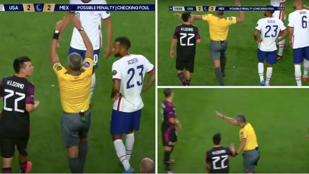Referee's Overly Dramatic VAR Penalty Point Was Straight Out Of WWE 'Attitude Era'