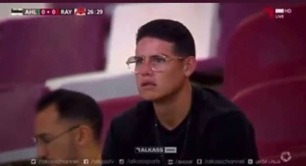James Rodríguez Looks Stunned Whilst Watching New Club Al-Rayyan