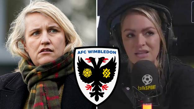 Laura Woods Reacts To AFC Wimbledon 'Considering' Appointment Of Chelsea Women's Boss Emma Hayes