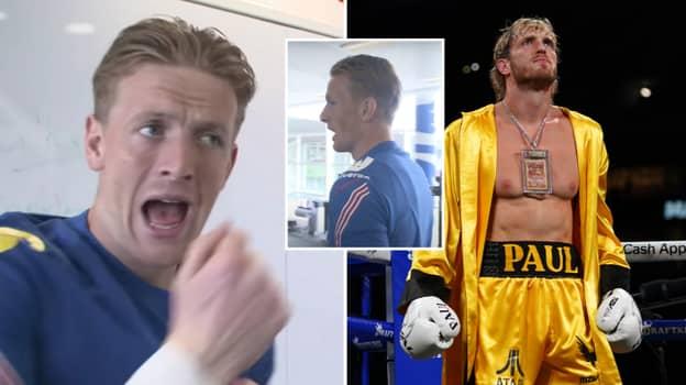 Jordan Pickford Says He'll 'Sleep' Logan Paul In A Fight In Behind-The-Scenes Footage