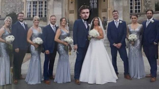 Woman Replaces Husband With Jack Grealish In Their Wedding Pictures
