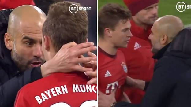 Throwback Of Pep Guardiola Lecturing Joshua Kimmich Shows His Passion