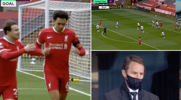 Trent Alexander-Arnold Scores Incredible 90th Minute Winner For Liverpool With Southgate Watching