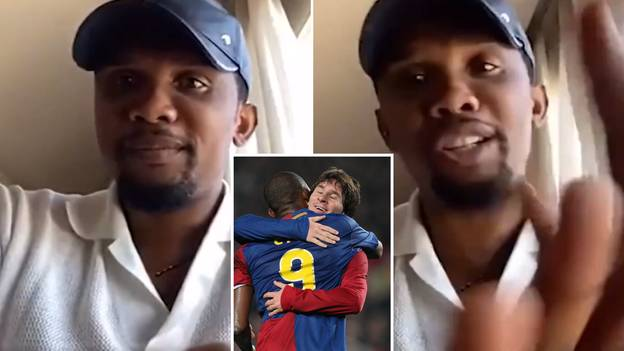 Samuel Eto'o Told 'You Played With Lionel Messi' And He Couldn't Help But Hit Back