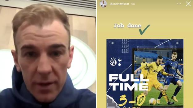 Joe Hart Responds To Deleted 'Job Done' Instagram Post After Spurs' Europa League Exit