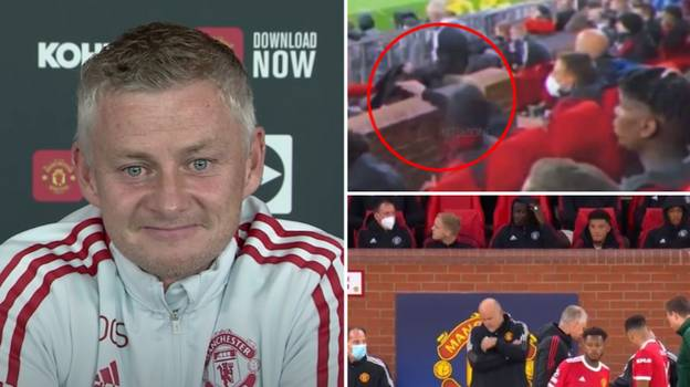 Ole Gunnar Solskjaer Reacts To Donny Van De Beek Chewing Gum Incident In Bizarre Press Conference Moment