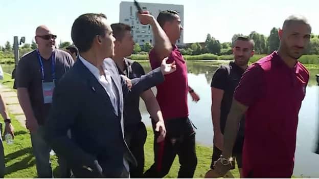 When Cristiano Ronaldo Lost His Head And Threw A Reporter's Microphone Into The Lake