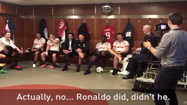 Watch: Sir Alex Ferguson's Brilliant Team Talk Prior To Michael Carrick's Testimonial