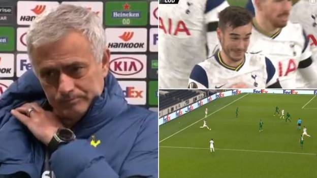Jose Mourinho Had A Priceless Reaction To Harry Winks Saying He Didn't Mean 53 Yard Goal
