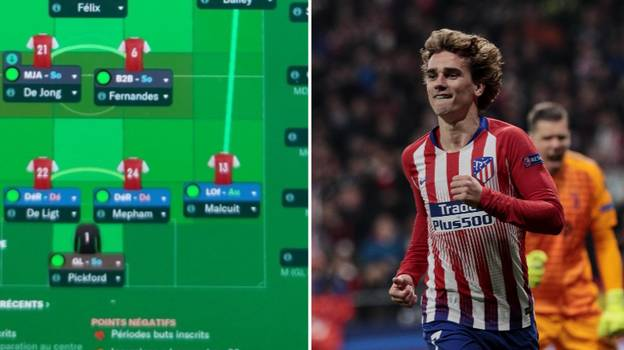 Antoine Griezmann's Football Manager Arsenal Team Is A Thing Of Beauty