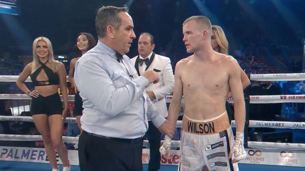 Incredible Moment The Referee Gives Losing Fighter A Motivational Talk Just Minutes After Knockout