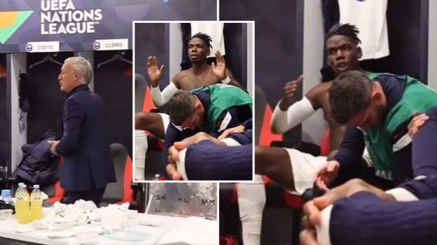 Dressing Room Footage Shows 'Leader' Paul Pogba Giving Rousing Speech During Nations League Final