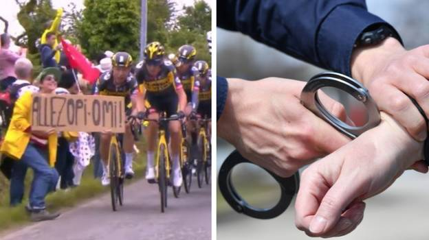 On-The-Run Spectator Who Caused Massive Tour De France Crash Finally Arrested By Police