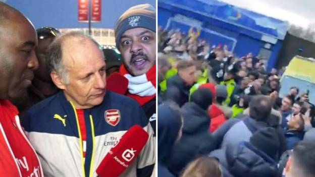 Arsenal Fans Chant 'Get Out Of Our Club' At 'Arsenal Fan TV'