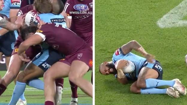 Tino Fa'asuamaleaui Absolutely Nails Josh Addo-Carr With Huge Blindside Hit