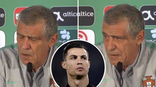 Portugal Manager Loses His Cool Over Constant Cristiano Ronaldo Questions
