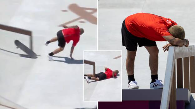 Skateboarder Angelo Caro Narvaez Suffers Eye-Watering Groin Accident At Tokyo Olympics