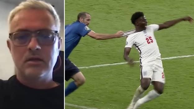 Jose Mourinho Praises Giorgio Chiellini For Cynical Foul On Bukayo Saka In Italy's Euro 2020 Win
