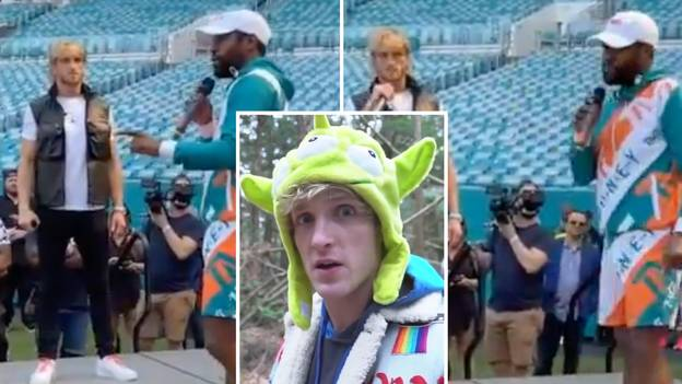Boxing Legend Floyd Mayweather Fires Savage 'Japan Dig' At Logan Paul During First Heated Face-Off