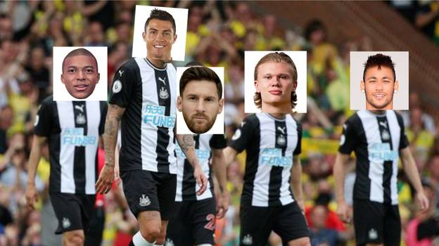 Newcastle United Fans Are Already Claiming Kylian Mbappe, Cristiano Ronaldo And Lionel Messi As Their Own