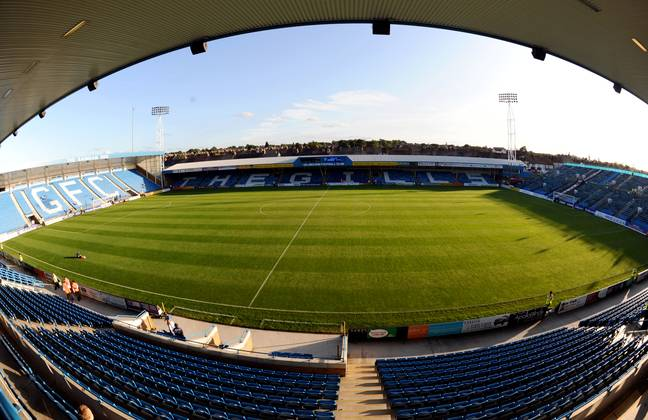 General view of the Priestfield Stadium, home of Gillingham FC. Image: PA