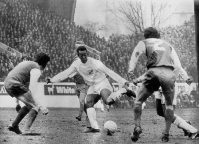 Pele's record for Santos is the most under threat. Image: PA Images