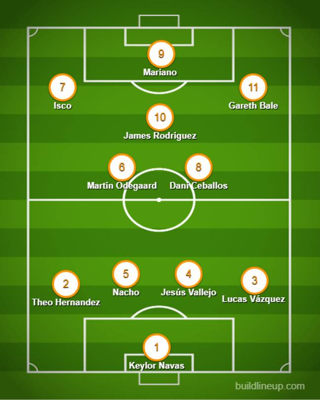 Real Madrid's for sale XI is impressive.