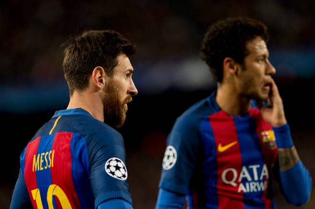 Neymar attempted to step out of Messi's shadow by moving from Barcelona. Image: PA Images