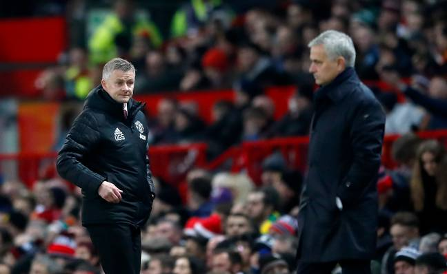 Mourinho and Solskjaer will meet on the opening Friday night of Project Restart. Image: PA Images
