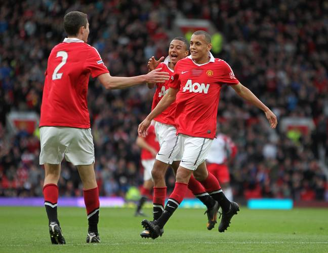 Morrison playing for United's youth team. Image: PA Images