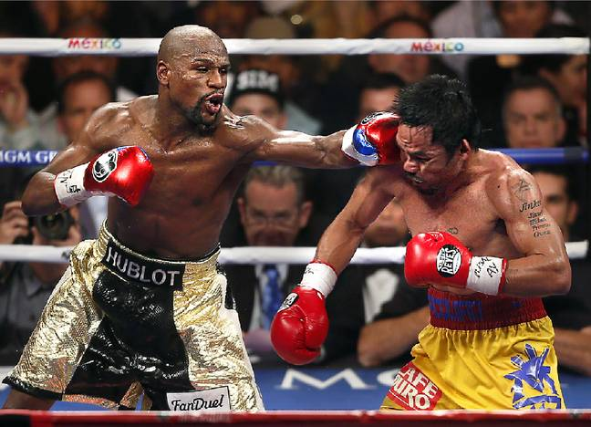 Mayweather dominated 'Pac-Man' in 2015. Image: PA Images