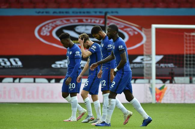 Chelsea's loss to Sheffield United was a big blow, softened by Leicester's loss to Bournemouth on Sunday. Image: PA Images