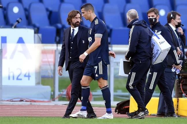 Pirlo with Ronaldo. Image: PA Images