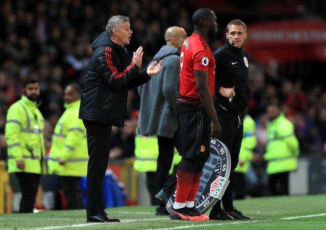 Lukaku coming on as a substitute last year. Image: PA Images