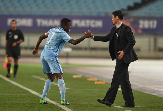 Ramires celebrates scoring last season. Image: PA Images