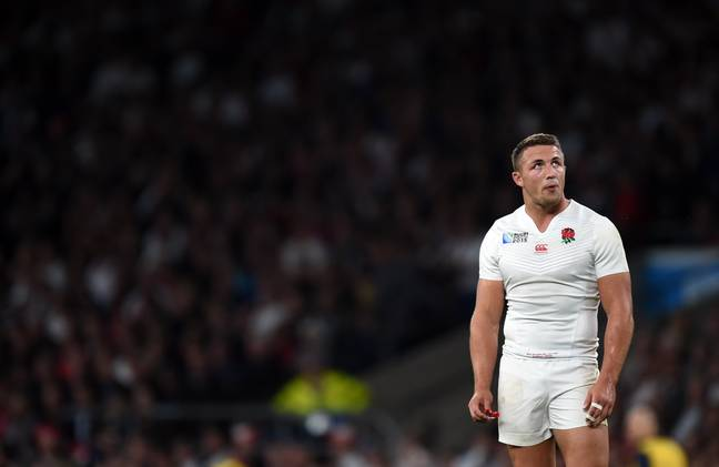 Sam Burgess representing England at the 2015 rugby union World Cup. Credit: PA