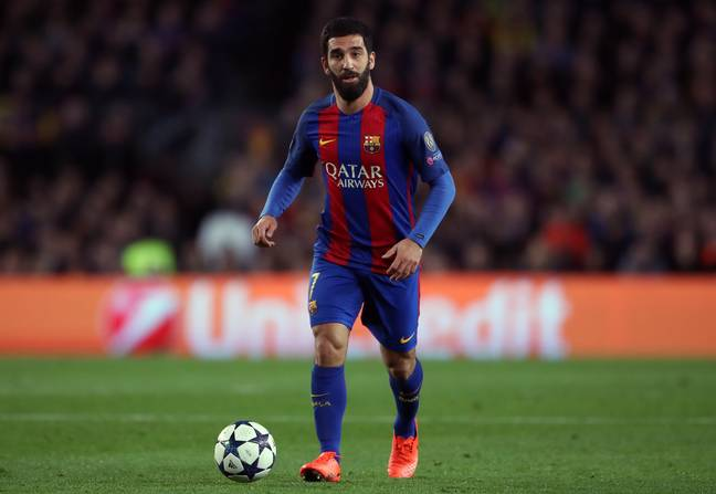 Turan on a rare appearance for Barca. Image: PA Images