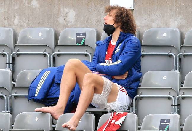 Luiz has had to sit out the end of the season with an injury. Image: PA Images