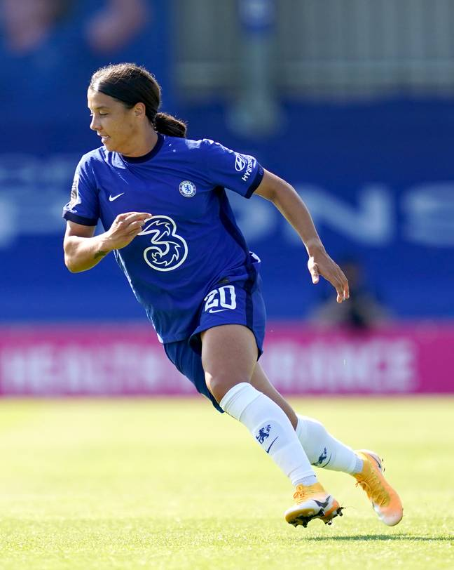 Sam Kerr in action for Chelsea. Credit: PA