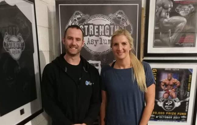 Chris Peil and Olympic gold medallist swimmer Rebecca Adlington