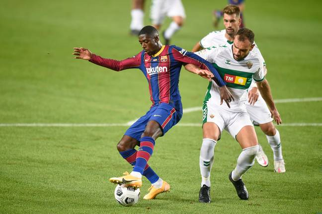 Ousmane Dembele featured in Barcelona's Joan Gamper Trophy friendly against Elche at the weekend. Image: PA