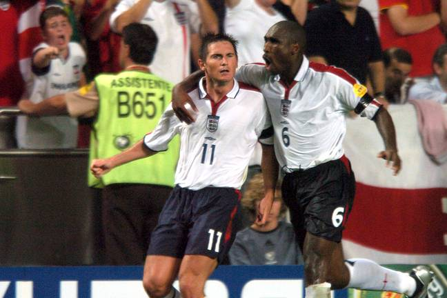 Lampard and Campbell played together for England. Image: PA Images