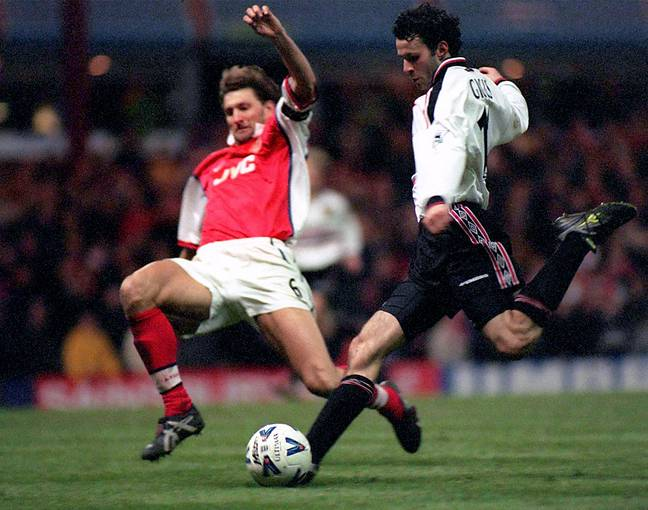 Giggs scores the winner in the 1999 FA Cup semi final, what a game. Image: PA Images
