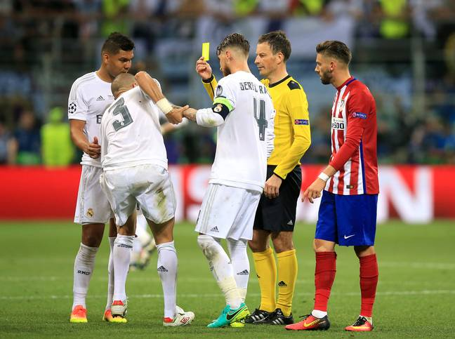 How did Real finish so many games with 11 men with Ramos and Pepe playing together? Image: PA Images