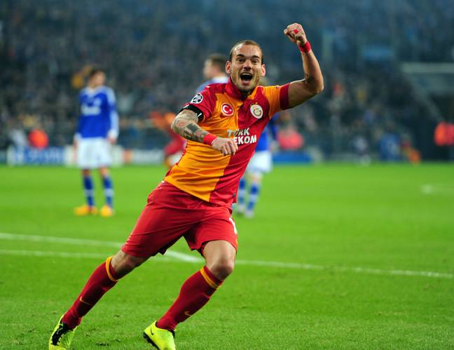 Sneijder had a good time in Turkey. Image: PA Images.